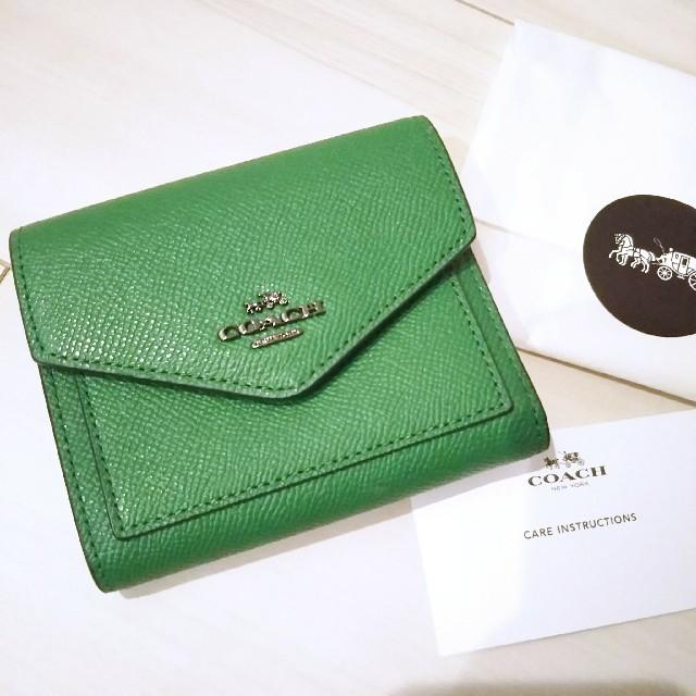 pretty nice 30042 058a7 COACH コーチ 折り財布 スモールウォレット グリーン 緑 | フリマアプリ ラクマ