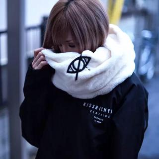 刺繍ファースヌード ホワイト(スヌード)