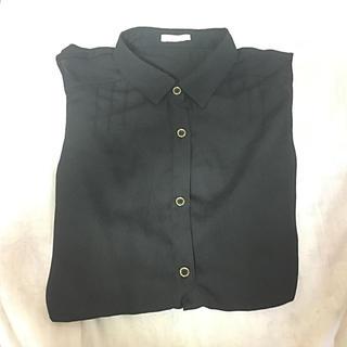 ジーユー(GU)のノースリーブ 襟付き シャツ 【GU】(シャツ/ブラウス(半袖/袖なし))