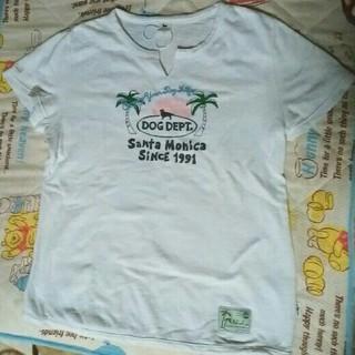 ドッグデプト(DOG DEPT)のドッグデプト Tシャツ Lサイズ 白(Tシャツ(半袖/袖なし))