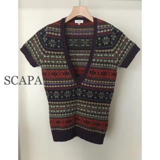 スキャパ(SCAPA)のスキャパ SCAPA Vネックセーター サイズ38 ウール100%(ニット/セーター)