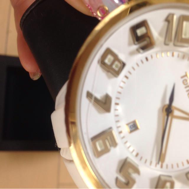 テンデンス ホワイト&イエローゴールド レディースのファッション小物(腕時計)の商品写真