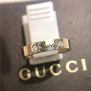 グッチ(Gucci)の売約済☆GUCCI☆ ダイヤ2石 18金リング・指輪(リング(指輪))