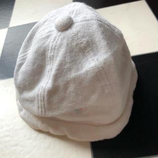 【クレージュ】ベイビー 白 帽子 ハット 48cm Used 格安