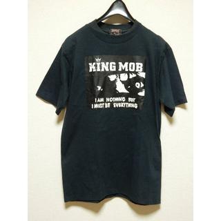 キングモブ(KING MOB)の激安!廃盤!スモールサイズS!キングモブKINGMOBプリント半袖Tシャツ黒ブラ(Tシャツ/カットソー(半袖/袖なし))