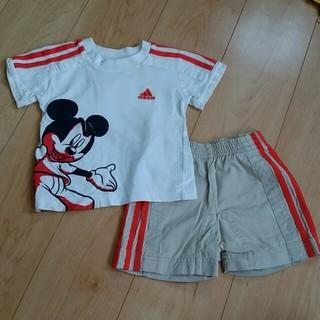 アディダス(adidas)のアディダス セットアップ Tシャツとハーフパンツ 85(Tシャツ)