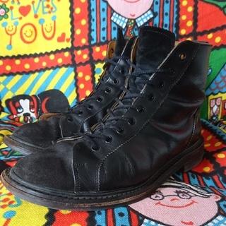 トリッカーズ(Trickers)のtricker's ブラック コンビブーツ(ブーツ)
