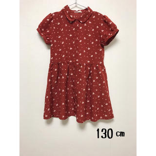 ジーユー(GU)のジーユー GU 子供服 ワンピース 130 花柄(ワンピース)