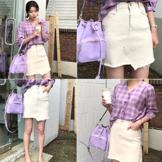 ロクロクガールズ(66girls)の韓国ファッション 66ガールズ アンバランススカート(ミニスカート)