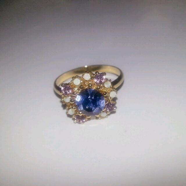 キラキラ パープル指輪゚.:。+゚ レディースのアクセサリー(リング(指輪))の商品写真