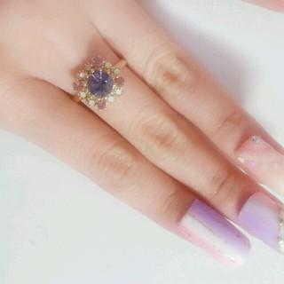 キラキラ パープル指輪゚.:。+゚(リング(指輪))