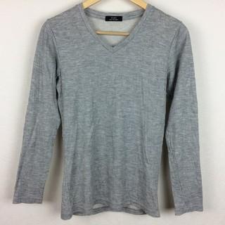 ゴーサンゴーイチプールオム(5351 POUR LES HOMMES)の美品 5351プールオム 長袖カットソー グレー サイズ1(Tシャツ/カットソー(七分/長袖))