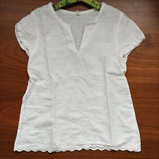 ムジルシリョウヒン(MUJI (無印良品))のリネン キッズブラウス 120㎝(Tシャツ/カットソー)