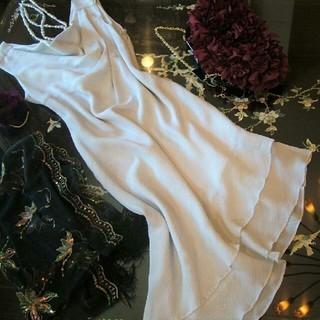 15号 ワンピース ドレス ラメ シルバー グレー フォーマル 大きいサイズ(ひざ丈ワンピース)