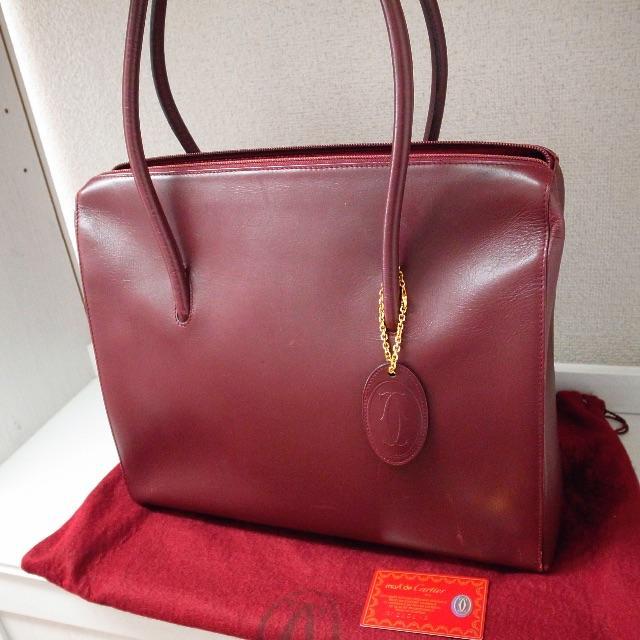 82adbe685bdf Cartier(カルティエ)のしぃパンダ様専用♡カルティエ マストライン ハンドバッグ ボルドー バッグ