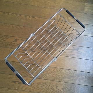 ムジルシリョウヒン(MUJI (無印良品))の無印良品 ステンレスバスケット スライドタイプ(収納/キッチン雑貨)