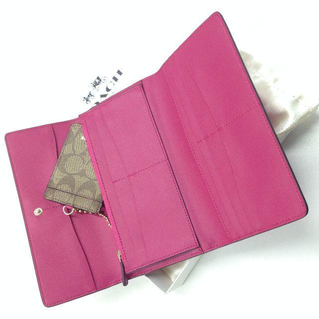 6f98aa1376bf COACH - COACH コーチ 人気の長財布 新品 バラ色 F53763 長財布の通販 by ...