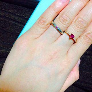 ティファニー(Tiffany & Co.)のティファニー ピンクサファイヤリング(リング(指輪))