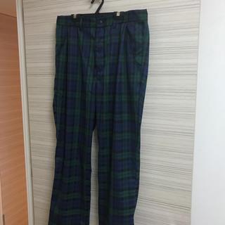 美品人気流行送料込み チェックワイドパンツ(L)(スラックス/スーツパンツ)
