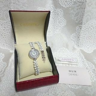 アビステ(ABISTE)のABISTE アビステ ラウンドフェイス淡水パール2連ブレスレット腕時計(腕時計)