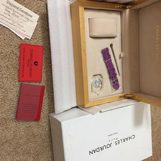 シャルルジョルダン(CHARLES JOURDAN)のシャルルジョルダン 木箱ケース&ベルト&カードセット(腕時計)