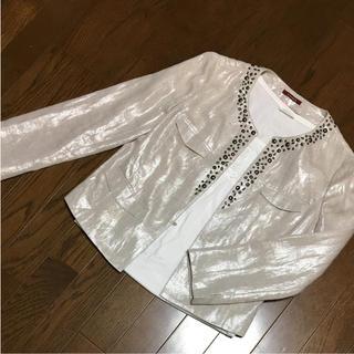 アマカ(AMACA)のアマカ ノーカラージャケット 美品 M(ノーカラージャケット)