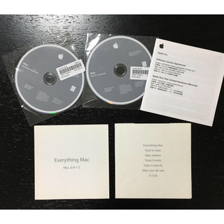 マック(Mac (Apple))のi Mac OS X アプリケーション インストール DVD(PC周辺機器)