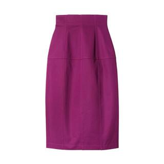 ルシェルブルー(LE CIEL BLEU)のLE CIEL BLEU コットンツイルエッグシェイプドスカート(ひざ丈スカート)