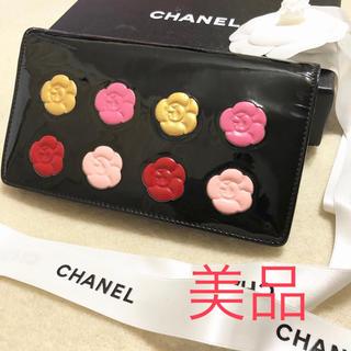 シャネル(CHANEL)のmari様専用  美品♡CHANEL長財布カメリアメイクパレット(財布)