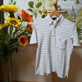 ザスコッチハウス(THE SCOTCH HOUSE)の✨ザ・スコッチハウス THE SCOTCH HOUSE 白色ボーダーポロシャツS(ポロシャツ)