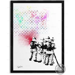 色と種類とサイズが選べるインテリアアートポスター 消防士D(ポスターフレーム )