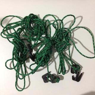 アライテント(ARAI TENT)のアライテント付属品 タープ用ロープ グリーン 反射塗料付き 245センチ4本(テント/タープ)