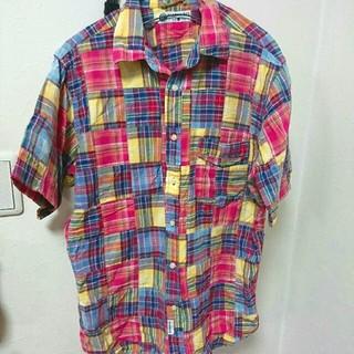 ハーヴァード(HARVARD)のHARVARD パッチワークシャツ メンズL(シャツ)