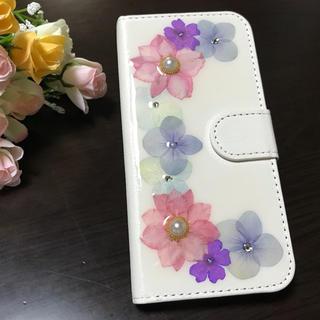 押し花♡手帳型iPhoneケース(スマホケース)