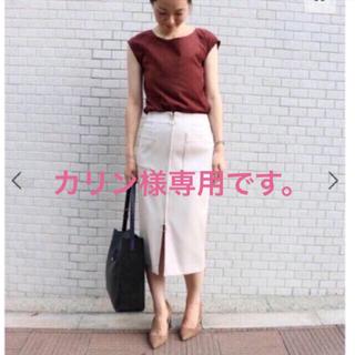 ノーブル(Noble)のNOBLE ノーブル フープジップタイトスカート(ひざ丈スカート)