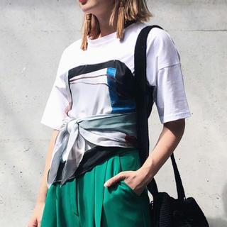 アメリヴィンテージ(Ameri VINTAGE)のAmeri MEDI DPAWING UNEVEN TEE(Tシャツ(半袖/袖なし))
