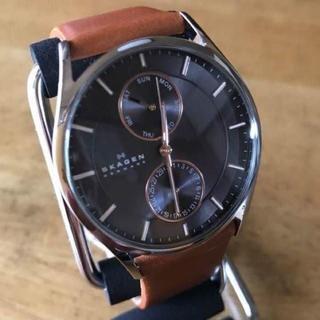 スカーゲン(SKAGEN)の新品✨スカーゲン SKAGEN クオーツ メンズ 腕時計 SKW6086 グレー(腕時計(アナログ))