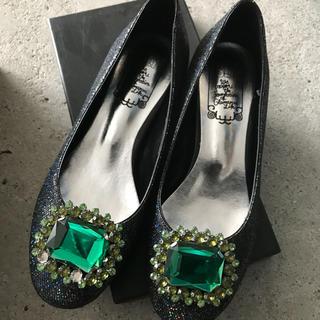 スライ(SLY)のSLYジュエルラメフラットシューズ(ローファー/革靴)