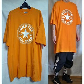 HIPHOP Tシャツ COMPTON ALL STAR オレンジ(Tシャツ/カットソー(半袖/袖なし))