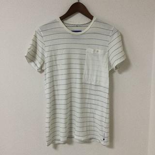 アディダス(adidas)のadidas originals ポケットTシャツ ボーダー 白 ホワイト (Tシャツ/カットソー(半袖/袖なし))