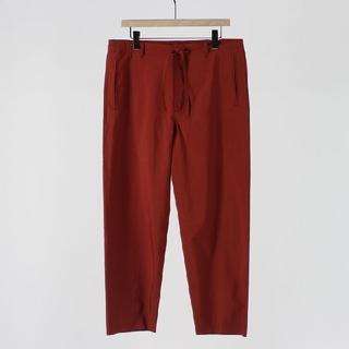 コモリ(COMOLI)の18SS 新品 AURALEE パンツ サイズ3 ブリックレッド 赤(スラックス)