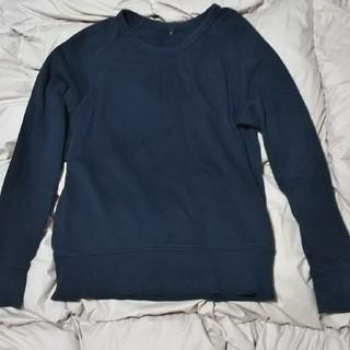 ムジルシリョウヒン(MUJI (無印良品))のトレーナー   紺  (無印良品)(トレーナー/スウェット)
