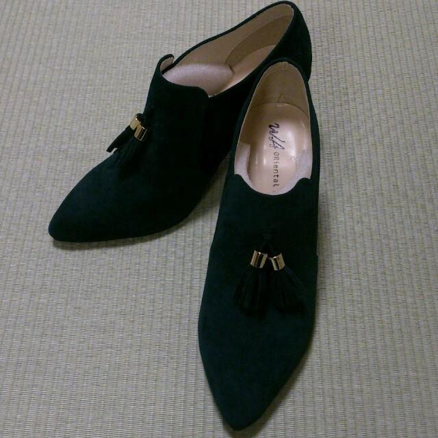 ORiental TRaffic(オリエンタルトラフィック)のタッセルブーティ☆L☆グリーン レディースの靴/シューズ(ブーツ)の商品写真