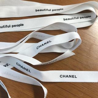 シャネル(CHANEL)のCHANEL beautiful people リボン美品(ひざ丈ワンピース)