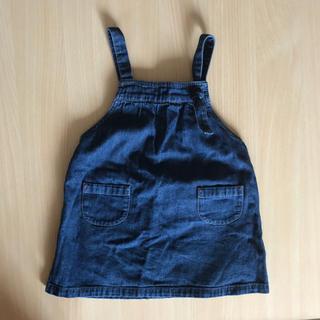 ムジルシリョウヒン(MUJI (無印良品))の無印良品 デニム ジャンパースカート 90(ワンピース)