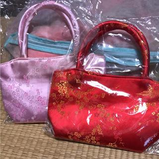 梅柄和装バッグ(お宮参り用品)