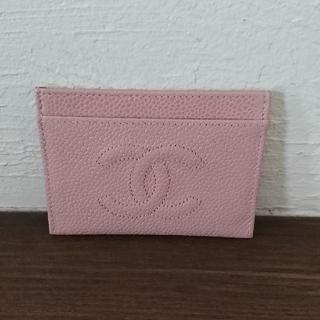 シャネル(CHANEL)のCHANEL カードケース ピンク(名刺入れ/定期入れ)
