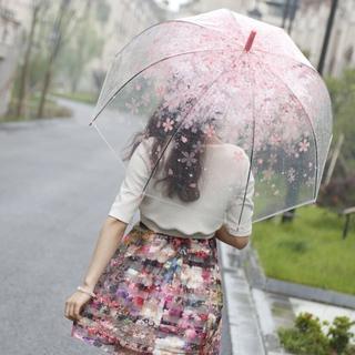 今、透明傘が人気‼️    可愛い ロマンチック 桜柄傘(傘)