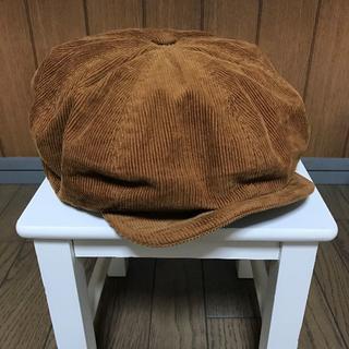 シュペリオールレイバー キャメルコーデュロイキャスケット帽子(キャスケット)