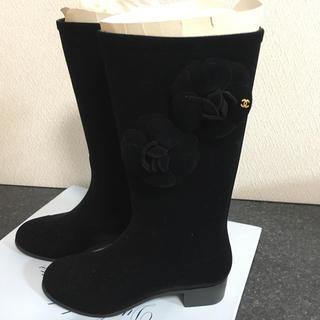 シャネル(CHANEL)のシャネル レインブーツ 35 ブラック(レインブーツ/長靴)